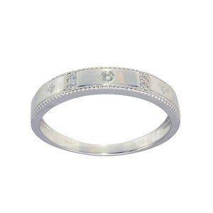 Other - Silver 925 Round CZ Cross Shank Design Ring